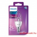 Philips PHILIPS Consumer LED candle 4-25W B35 E14 827 CL ND E14 Gyertyaégő