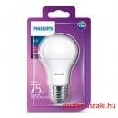 Philips PHILIPS Consumer LED bulb 11-75W A60 E27 827 FR ND E27 Körteégő
