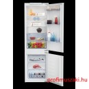 Beko BCSA-283E2 S Beépíthető kombinált alul fagyasztós hűtő