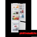 Beko BCSA285K2S Beépíthető kombinált alul fagyasztós hűtő