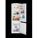 Beko BCSA285K3SN Beépíthető kombinált alul fagyasztós hűtő