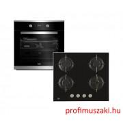 Beko BIM25301X+HILG64220S Beépíthető sütő és gáz főzőlap szett