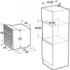 Gorenje BO76SYB + IT643SYB Beépíthető sütő és indukciós főzőlap szett