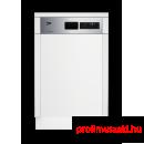 Beko DSS28021X Beépíthető 9-10 terítékes mosogatógép