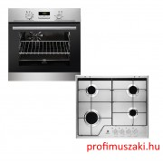 Electrolux EZB3400AOX + KGS6424SX Beépíthető sütő és gáz főzőlap szett