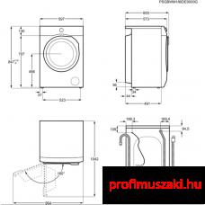AEG L6FBI48S Elöltöltős mosógép