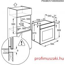 Zanussi ZOC25601XU+ZGH62414XA Beépíthető sütő és gáz főzőlap szett