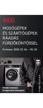 AEG mosógépek és szárítógépek ráadás fürdőköntössel